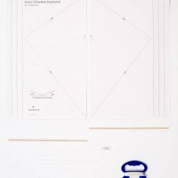 diamond kite kit - William A. Eddy Kite