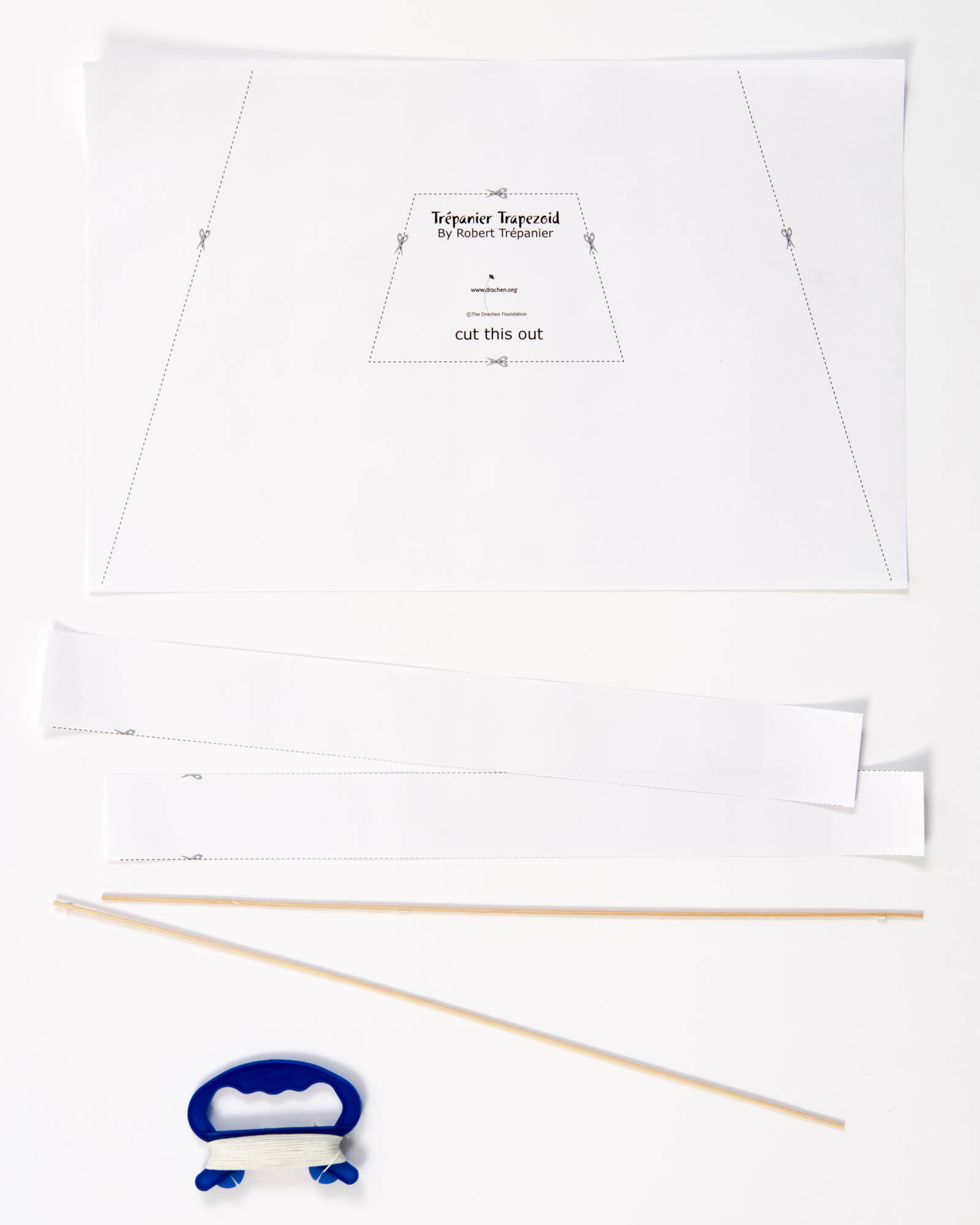 Kite Festivals Kit Trapezoid Shaped For Events Classrooms Diagram
